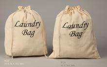 Cotton drawstring laundry bags