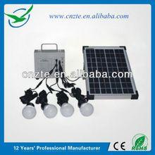 Hot selling small home solar lighting kit solar sun visor bluetooth handsfree car kit 5w for disaster relief