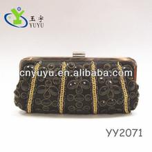 crystal stone chain clutch bag