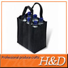 Customized durable PP non woven 6 bottle wine tote bags