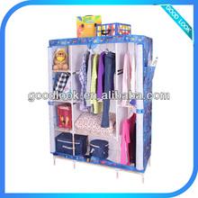 bedroom closet wood wardrobe cabinets/fabric wardrobe storage B004