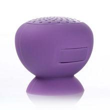 Mini Silicone Bluetooth Wireless Speaker Stereo Handsfree w/ Microphone Sucker speaker Purple