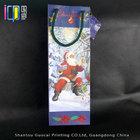 Glossy elegant decorative christmas stocking gift paper mini wine bottle bag