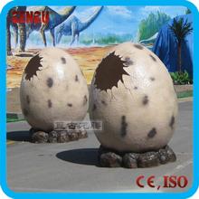 Amusement park fiberglass dinosaur egg for decoration