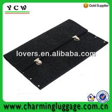 100%black felt sleeve for notebook/Macbook/Ipad/laptop