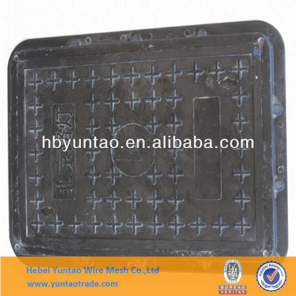 ışık kare kanalizasyon tahliye kapağı/EN124 a15 sızdırmaz menhol kapağı/grp iyi sızdırmazlık kapak