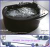 HS-B007E New design circular acrylic bubble bath /clear bathtub