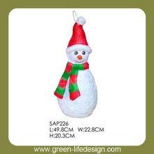 Papel de la navidad decoratibe muñeco de nieve de venta al por mayor piñatas