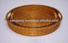Round rattan tray/ Vietnam handicraft