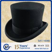 100% wool felt formal headwear, top hats, wool felt top hats