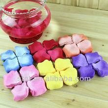 artificial bulk fabric satin silk rose petal two tone confetti scented for wedding wholesale cheap