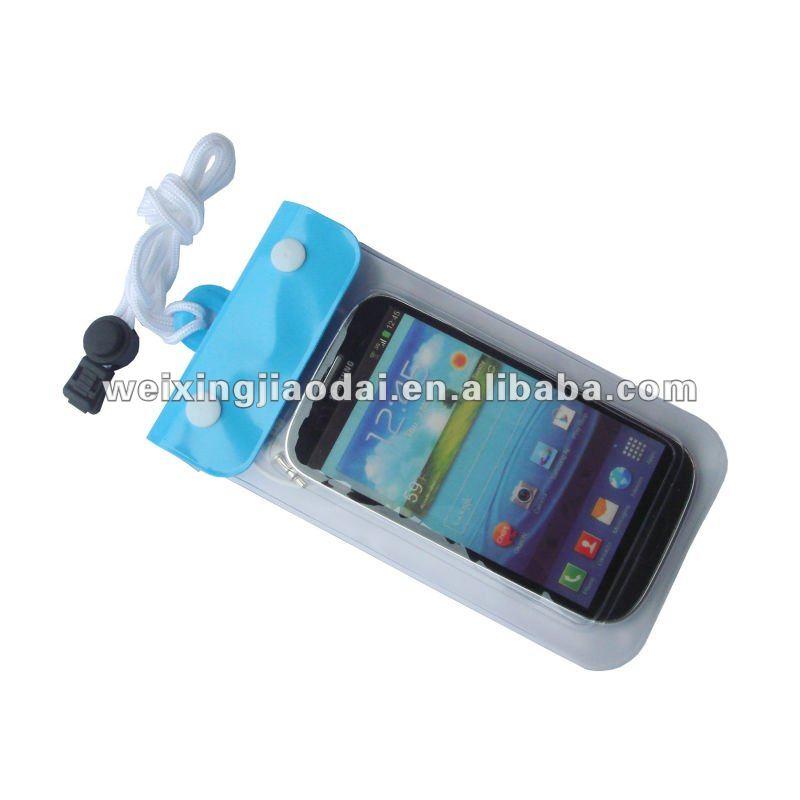 Pvc de moda a prueba de agua bolsa con el auricular Jack Custom tamaño y la insignia reino unido