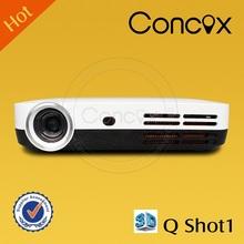 Concox Q shot1 600 lumens DLP 3D beamer projector, portable overhead dlp education