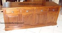 Teak Minimalist Side Board Teak Minimalist Cabinet Solid Teak Wood Buffet Teak Wood Home Furniture Teak Indoor Furniture