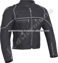 Black Cordura Motorcycle Waterproof Winter Jacket For Men