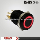 CE ROHS 19mm waterproof push button switch