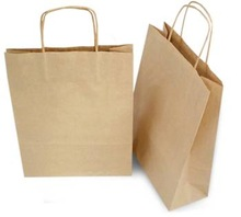 Packaging Paper Bag - Brown with Handle - Large