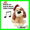 D893 cantando dança Dog Musical Animated natal decoração