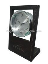 2013 Unique Hotel Decor Table Leather Alarm Clock