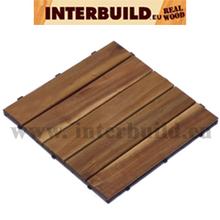 FSC Acacia Camp 5 Wood Deck Tile 30x30 Teak Color