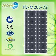 New energy 205w price per watt solar panel