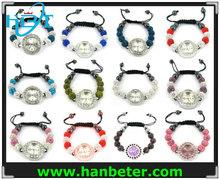 Wholesale men/women shamballa bracelet watch set with different style/color