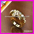 superfine handmade 24k moda de ouro anel de casamento