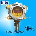 Kq500d- nh3 de gas en línea del sensor detector de amoníaco tóxico