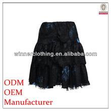 black short lace latest style skirts 2012