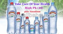 Alkaline Mineral Water - High PH plus Vanadium