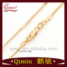Wholesale New design jewelry elegant 24k gold filled thin chain necklace logo lobster clasp necklace for men hot sale