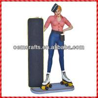 Funny resin sexy lady tall girl custom Menu Chalk Board