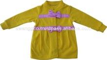 Kids 100% Cotton yellow Plain Tops baby frock