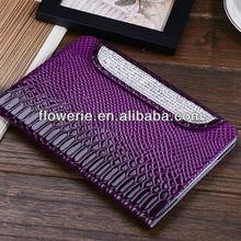 FL2964 2013 Guangzhou new arrival crocodile wallet leather flip case for ipad mini