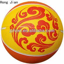 jiangyin multi-color rubber basketball size 6