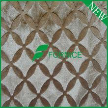 Polyester brushed micro velboa fabric for cushion/slipper FNT283