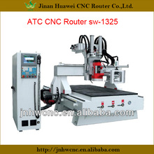 sw-1325 wood furniture producing automated tool changing ATC spindle woodworking machines from China