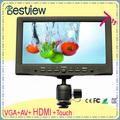 Kleine 7-zoll-lcd-monitor hdmi vga-eingang touchscreen pc-monitor