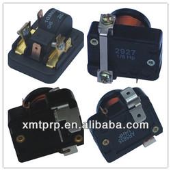 refrigerator compressor ptc relay, overload, protector