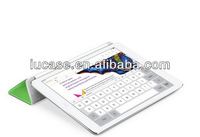 For iPad air cover, ECO friendly pu leather case for iPad air, 2013 new design tablet case for iPad air wholesale
