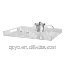 2013 New design clear acrylic serving trays wholesale
