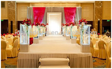 IDA New crystal door pillar cover with rechargeable battery for trade show and exhibition