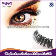 Factory supply hand made False eyelash,machine made false eyelashes
