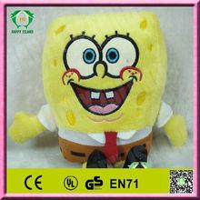 HI EN71 hot sale sponge bob stuffed soft plush toy for sale