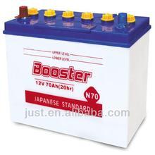 Good Quality JIS Standard Dry Cell Automotive Battery 12V70Ah Lead Battery Plant