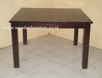 Indonesia Teak Indoor Furniture Solid Teak Wood Table Minimalist Dining Room Furniture