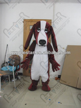 NO.4335 wine red dog mascot costumes big ear and nose