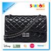 New women genuine leather chain purse handbag shoulder bag