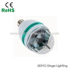 2014 new RGB mini led rotating colorful light hotsale led stage effect light bulb