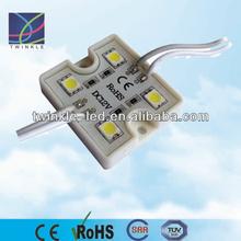 rgb changing color remote control led light, smd5050 led module 4leds/pc